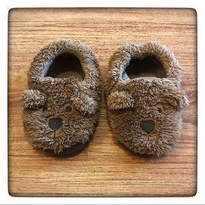 GAP Fuzzy Bear Slippers Toddler Large